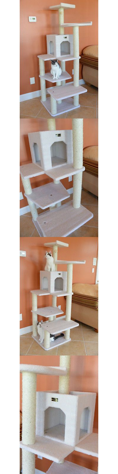 Cat Lover Products 117422: Pets Furniture House Large Cats Tree Condo Scratching Post Perch Loft Hammock BUY IT NOW ONLY: $189.43