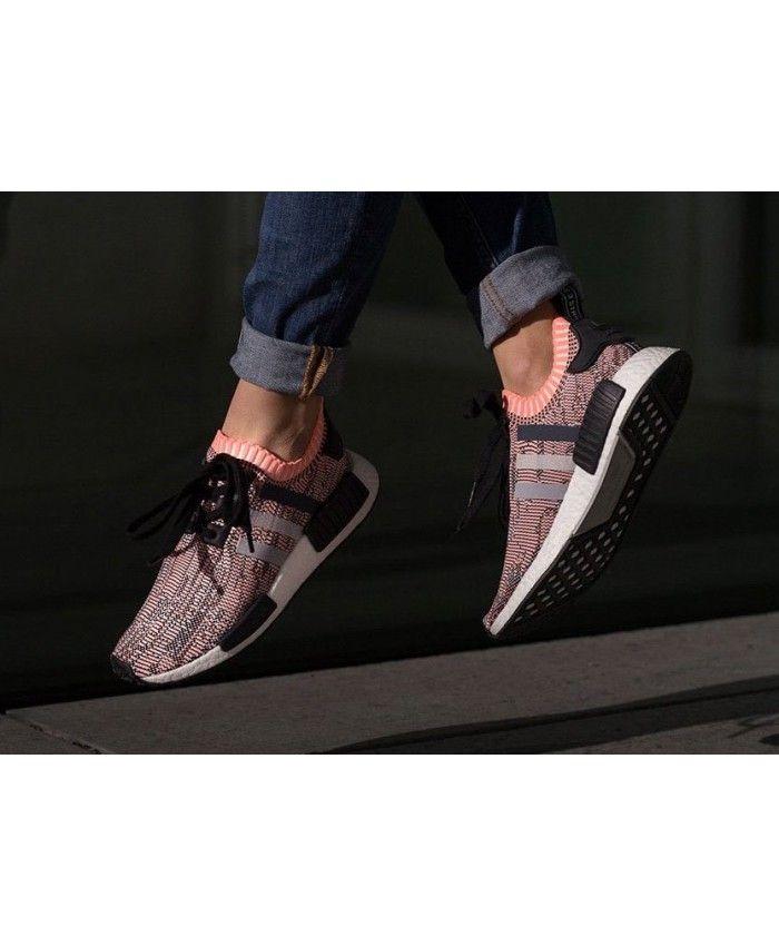 5862f8bf015c Adidas NMD R1 Primeknit Sun Glow Salmon Pink Rose Shoe Womens Cheap Sale