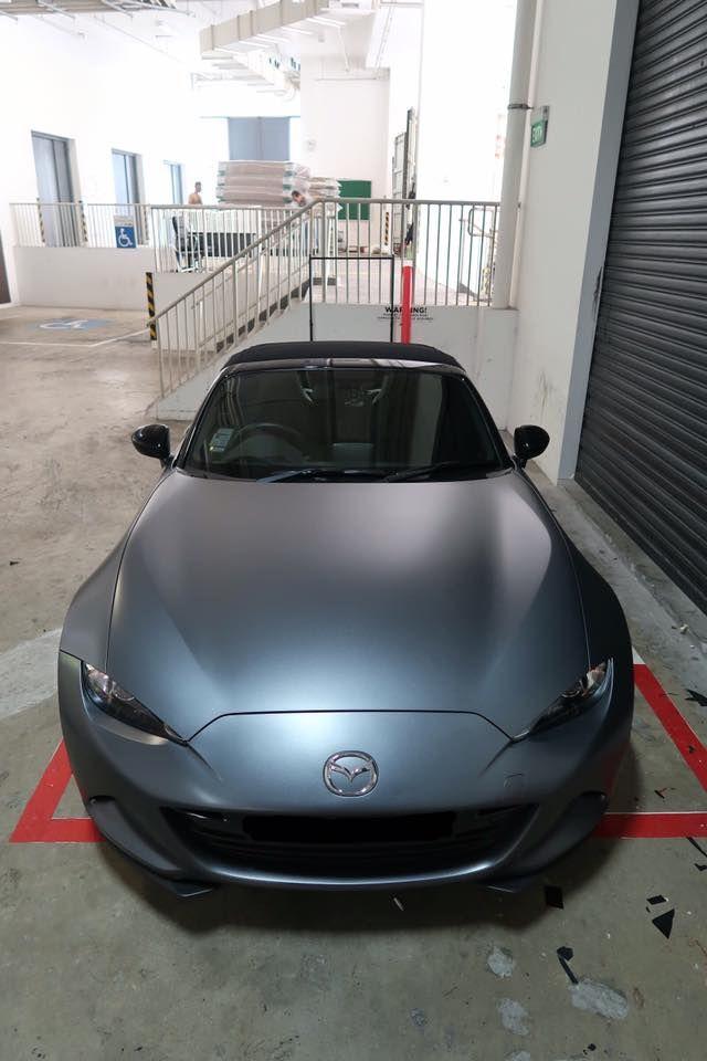 Titanium Brushed Wrap On Mazda Miata Nd Mx 5 Mazda Mx5 Miata Mazda Mx5 Mazda Miata