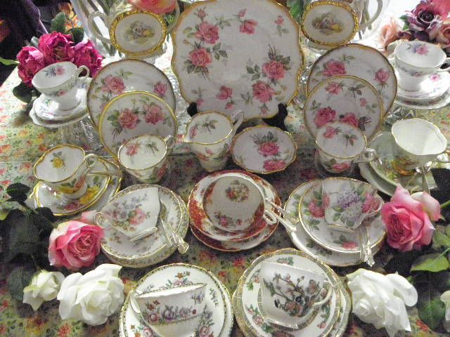 Some of our gorgeous vintage china available for hire.