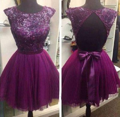 purple homecoming dress, lace homecoming dress, short prom dress, dresses for teens, junior prom dress, bridesmaid dress , BDS00067
