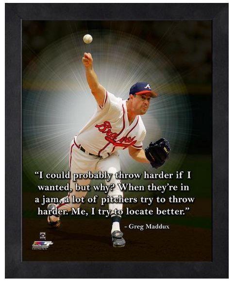 "Greg Maddux Atlanta Braves Hall of Famer - 11"" x 1 4"" Framed ""Pro Quotes"""