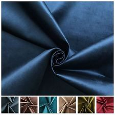 LUXURY SMOOTH THICK SHINY DESIGNER VELVET MATERIAL CUSHION UPHOLSTERY FABRIC
