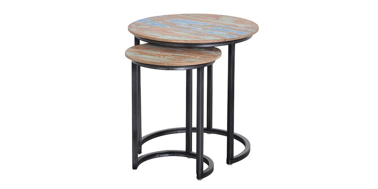 Hugo Nesting Tables ~ Solo round coffee tables hunter furniture perhaps i