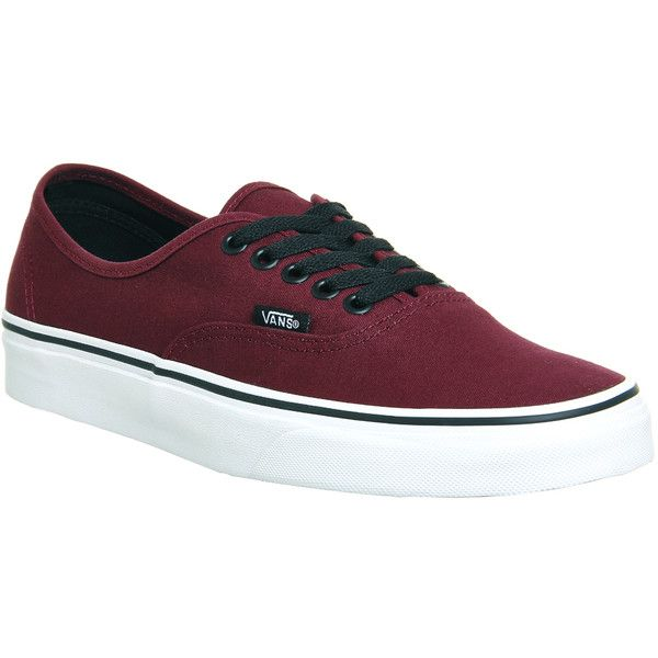 Vans Authentic ($69) ❤ liked on Polyvore featuring shoes, sneakers, vans, trainers, port royale black, unisex sports, sports trainer, sport shoes, lace up sneakers and vans trainers