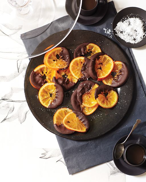 Candied Orange Dipped in Chocolate - http://www.sweetpaulmag.com/food/candied-orange-dipped-in-chocolate #sweetpaul