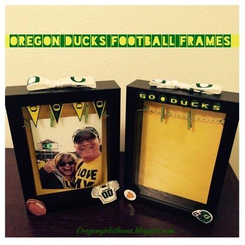 DIY Shadow Box Frame Ideas: Oregon Ducks Football Game Memory Box