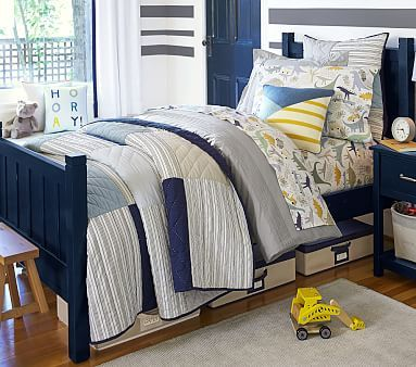 Patchwork Quilted Bedding #pbkids