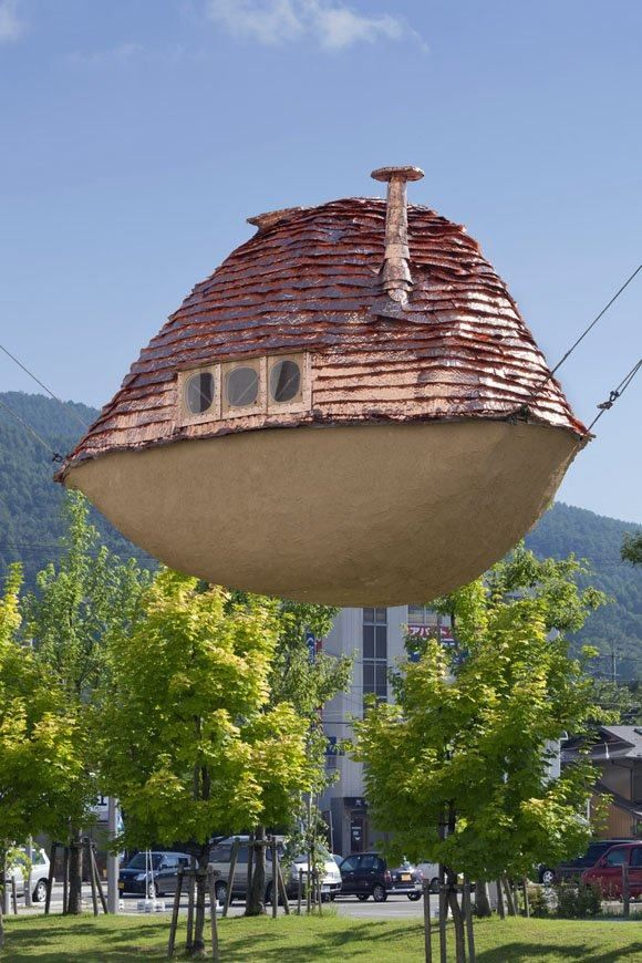 Casas extrañas. Barco Volador De Barro, Japón