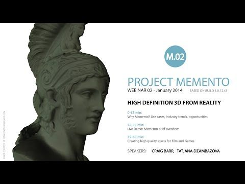 Autodesk Memento Webinar #2 - High Definition 3D from Reality - YouTube