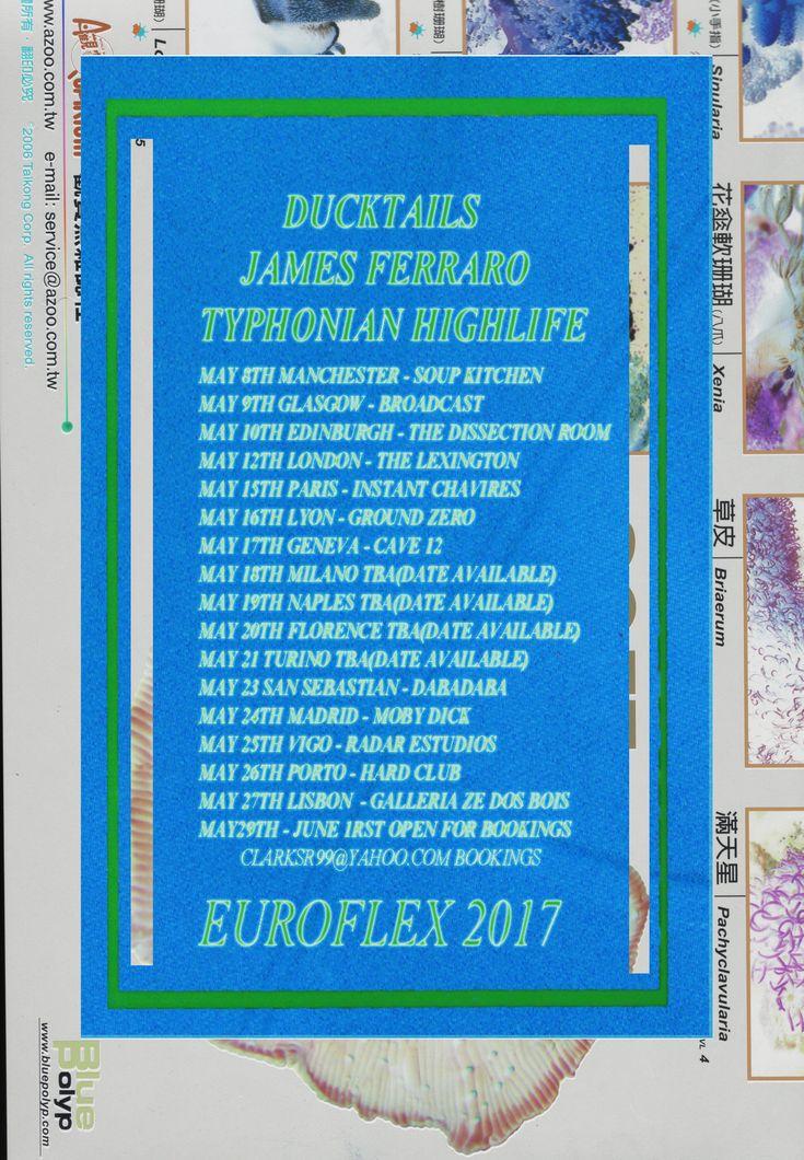 James Ferraro Ducktails and Spencer Clark announce European tour