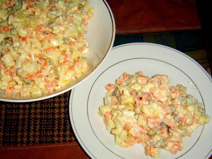 Francouzský salát, receptura ČSN 50147. Francouzský salát byl a stále je oblíben těmi, kdož ve svačinovém salátu nehledají kousky
