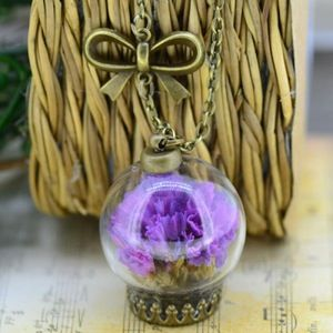 Natural Air Dried Purple Sea Lavender Necklace