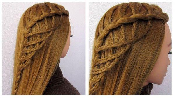 Fashion hair styles 2019 – Amazing braided haistyle 🔹 New lace hairstyle tuto…