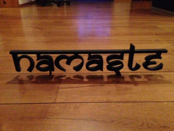 Namaste Sign Home decor sign  Yoga sign by SunFla on Etsy, $48.00