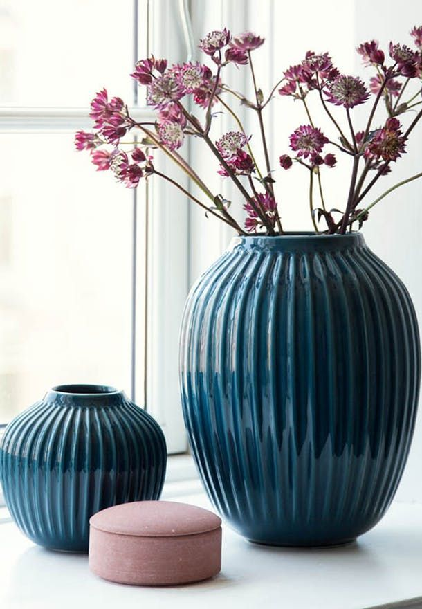 Blue petroleum vase from Khler The vase
