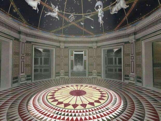 Ricostruzione dell'interno della Domus Aurea di Nerone