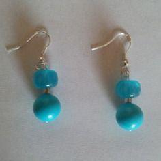 Boucles d'oreilles en verre - créabijoux lolo - bijoux fantaisies