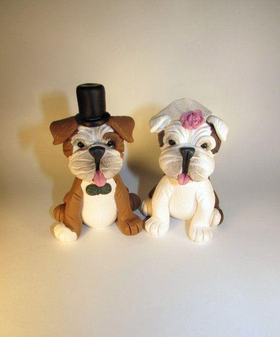 Custom Cake Topper Dog Pet English Bulldog Wedding Animal