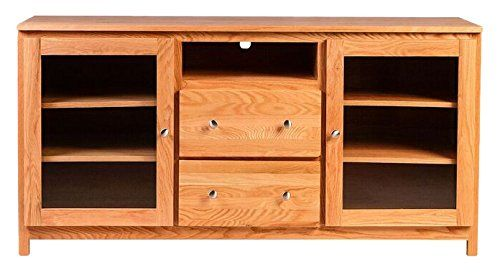 """Forest Designs FD-4157- UH-30h-UA Urban TV Cart with Drawers, 62"""" W x 30"""" H x 21"""" D, Unfinished Alder. No particle board. Real Wood. Lifetime Warranty. Made in the USA. Custom Available."""