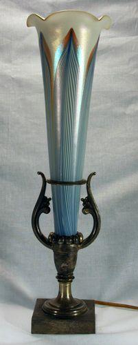 Vintage Durand, Steuben or Quezal Lamp c1910 | eBay