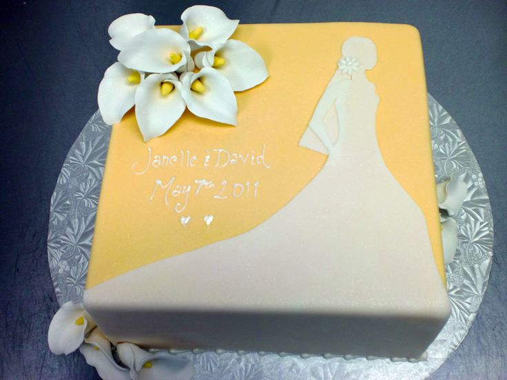 17 best images about bridel shower cakes on pinterest for Cakes for wedding showers