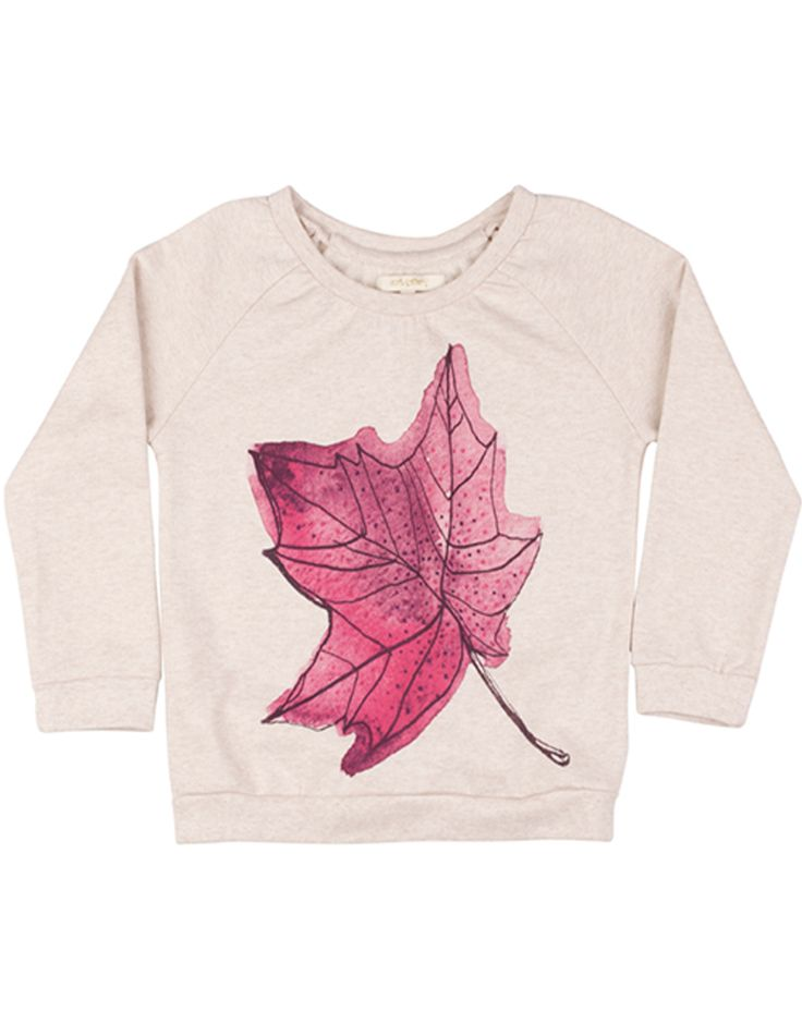 SOFT GALLERY  Girls Maple Leaf Print Sweatshirt  from €63,00 now €31,50