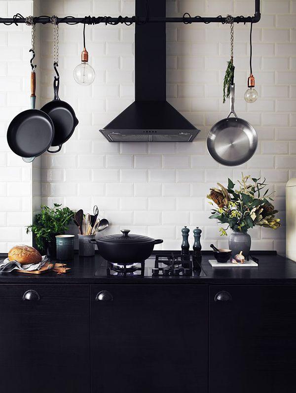 Black kitchen from trendenser
