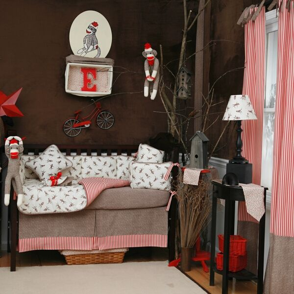 Sock Monkey Nursery...  ...I could totally see my future grandchild with this!  lol