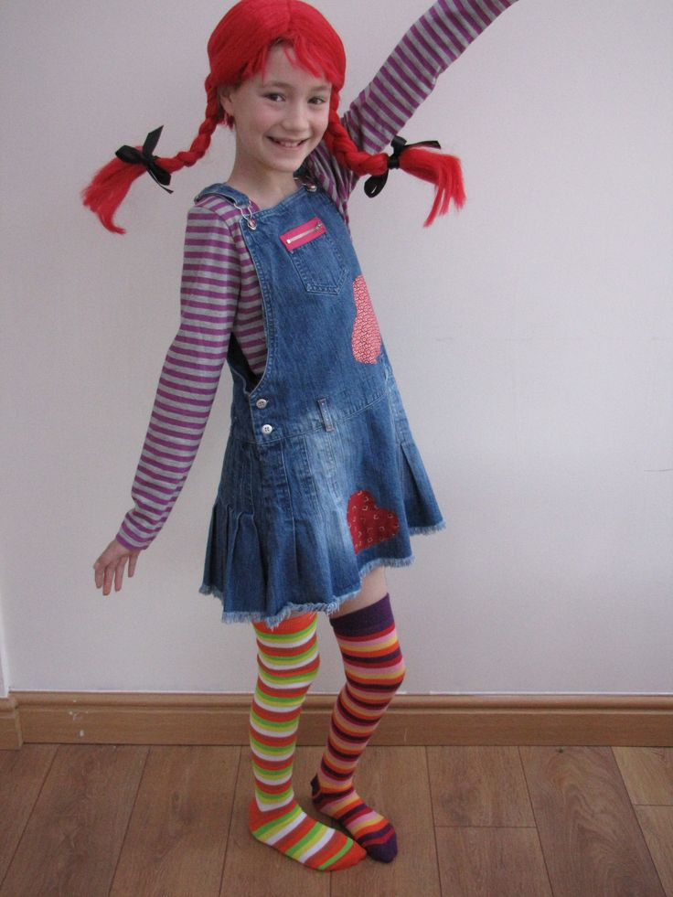 Pippi Longstocking -- this is a costume that's easily adaptable for adults!