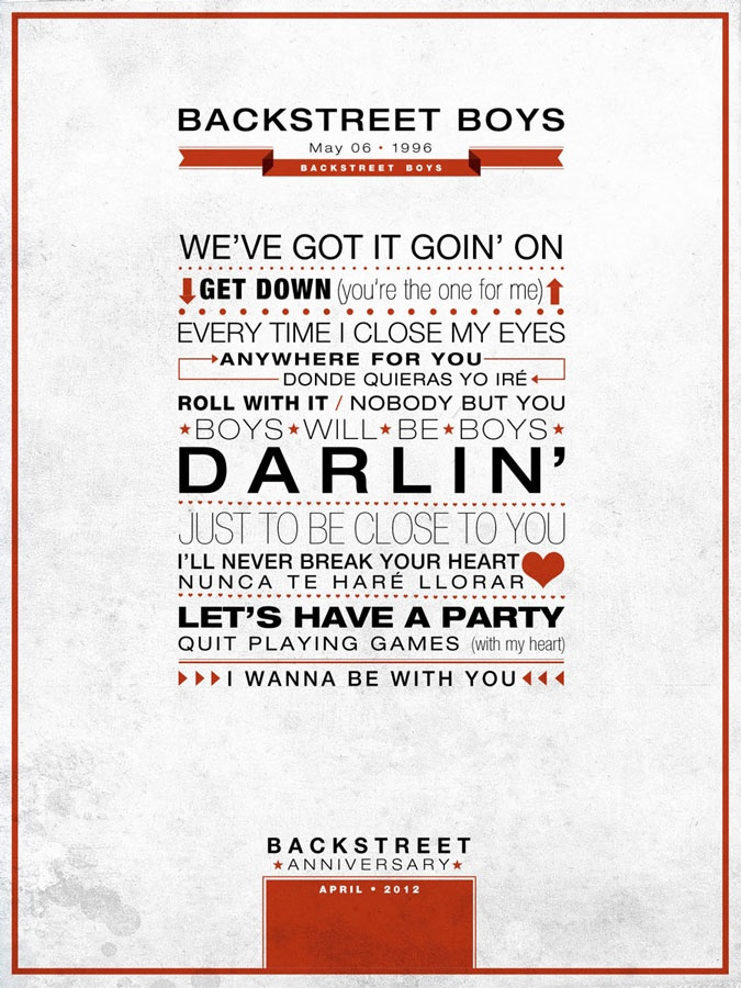 Backstreet Boys - Poster, Backstreet Anniversary #typo l @Judi Lumpp Boys @skulleeroz @Vickie Hsieh DeLuna @brian_littrell @Nick C Carter