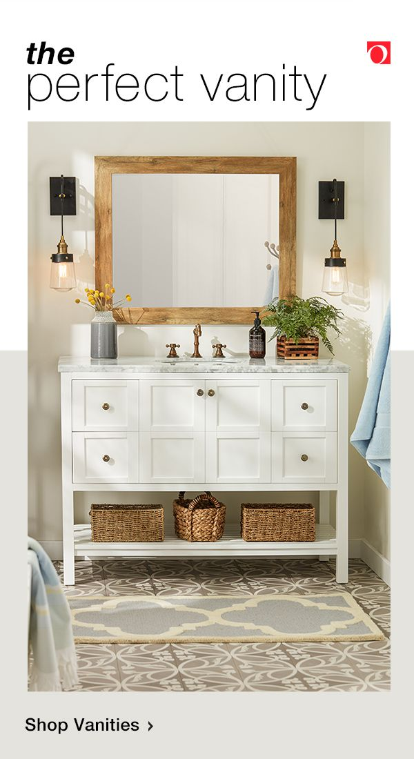 Give Your Bathroom The Update It Deserves With A Fresh Bathroom Vanity From Oversto Bathroom Inspiration Decor Bathroom Remodel Designs Small Bathroom Makeover