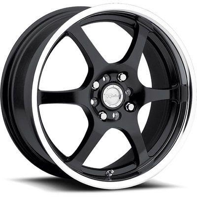 18x7.5 Black Raceline 126 Wheels 5x4.25 5x4.5 45 PONTIAC VIBE VOLVO S40