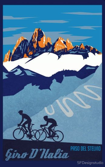 Giro D'Italia retro cycling poster