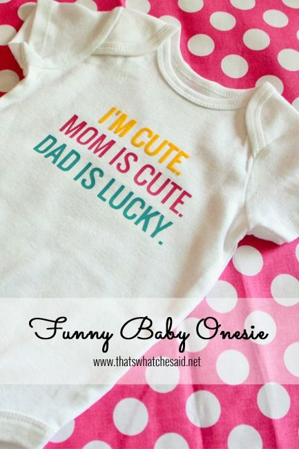 Make some adorable custom baby onesies using heat transfer from Silhouette America. Heat transfer discount code to use is CHE at checkout! | See more about Heat Transfer, Onesies and Silhouette.
