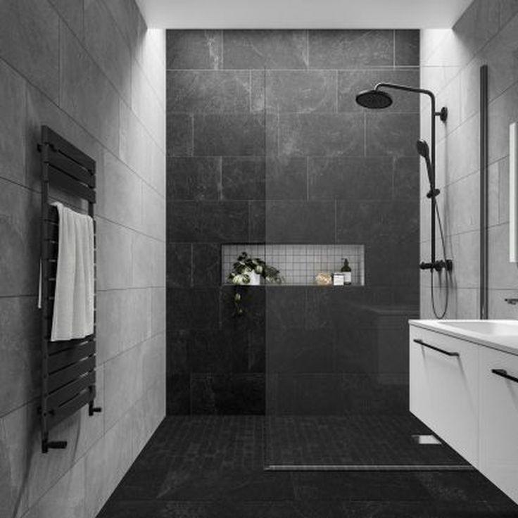 20+ Impressive Black Floor Tiles Design Ideas For Modern