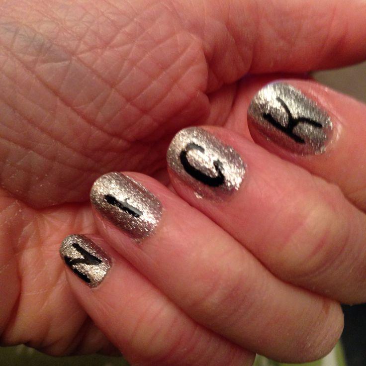 Nick Jonas handwritten nails