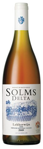 Solms-Delta Lekkerwijn - a free-run blend of Shiraz (2010 vin), Mourvèdre, Viognier and Grenache. A full bodied and complex rosé wine. Yum!