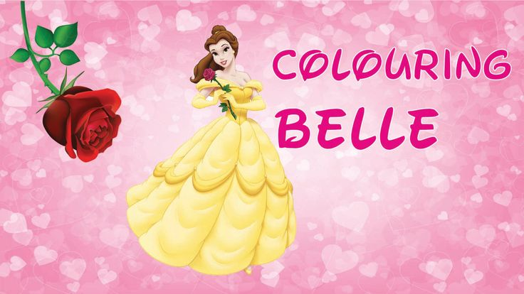 Fun Colouring Disney Princesses: Belle from Beauty and the Beast Using coloured pencils