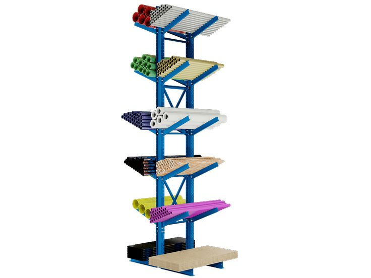Cantilever Rack Super-Heavy Duty Double Sided Inclined Starter Kit 24′ to 25′