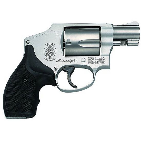 The Smith & Wesson J-Frame has become the most popular small frame personal defense revolver on the market. With decades of reliable performance to its credit, the J-frame line offers models capable of firing .22 LR, .22 Magnum, .38 S Special and the more powerful .357 Magnum loads. S 642 Centennial Airweight Revolver .38 Special 1.875in 5rd