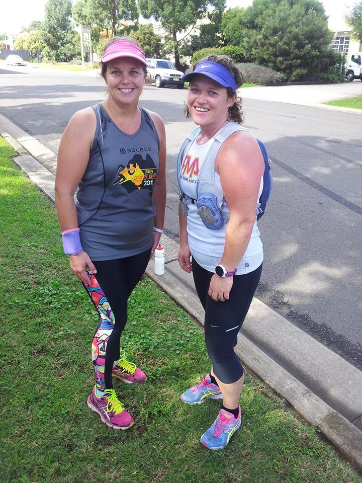Was great to do a run with a fellow skins recruit before the big day. Thanks Linda