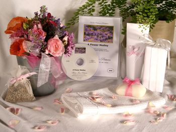 Give a DVD Movie - A FLOWER MEDLEY - Support the lasting gift of a movie or book by adding these sensory gifts to support engagement and reminiscence for a person in care. Judi Parkinson Activities  http://sharetimepictures.com.au/GIFTS.php