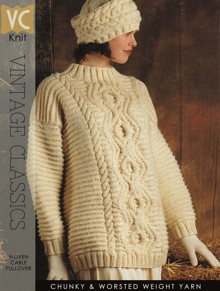 Gorgeous Aran pattern written for two versatile lengths