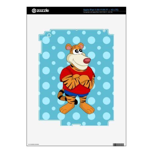 Tiger cartoon iPad skin