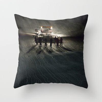 Epic cat light at Nine Knights 2014 Throw Pillow by Håkon Jørgensen - $20.00