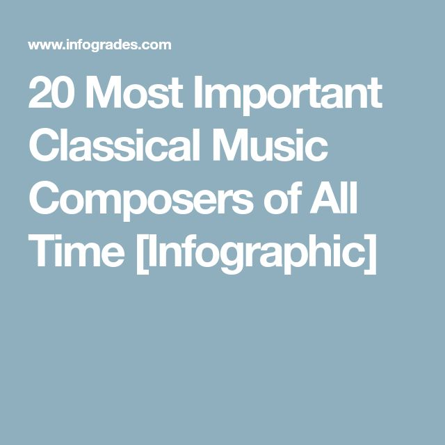20 Most Important Classical Music Composers of All Time [Infographic]