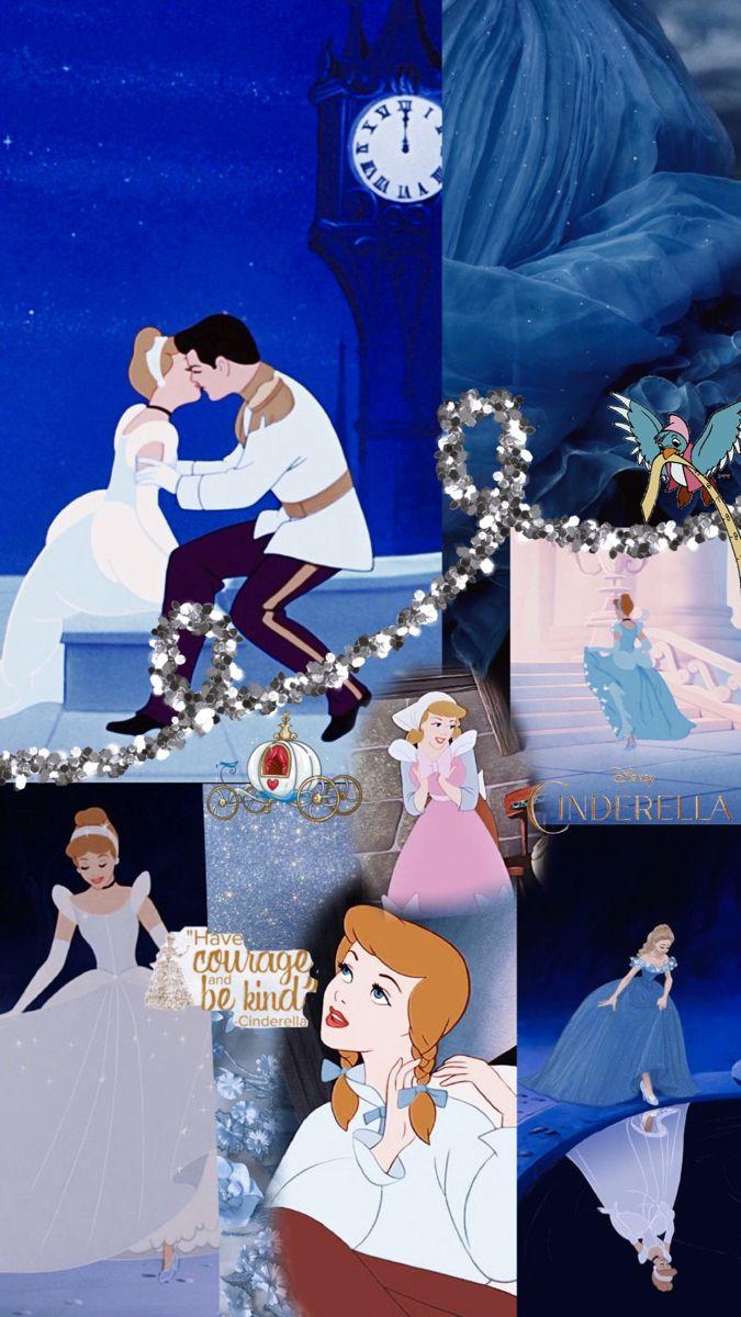Cinderella Background Collage Wallpaper Cinderella Background Disney Cinderella