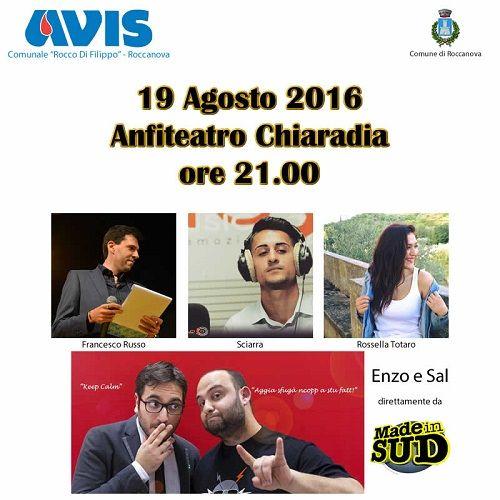 AVIS festa del del donatore a Roccanova (PZ) in Basilicata