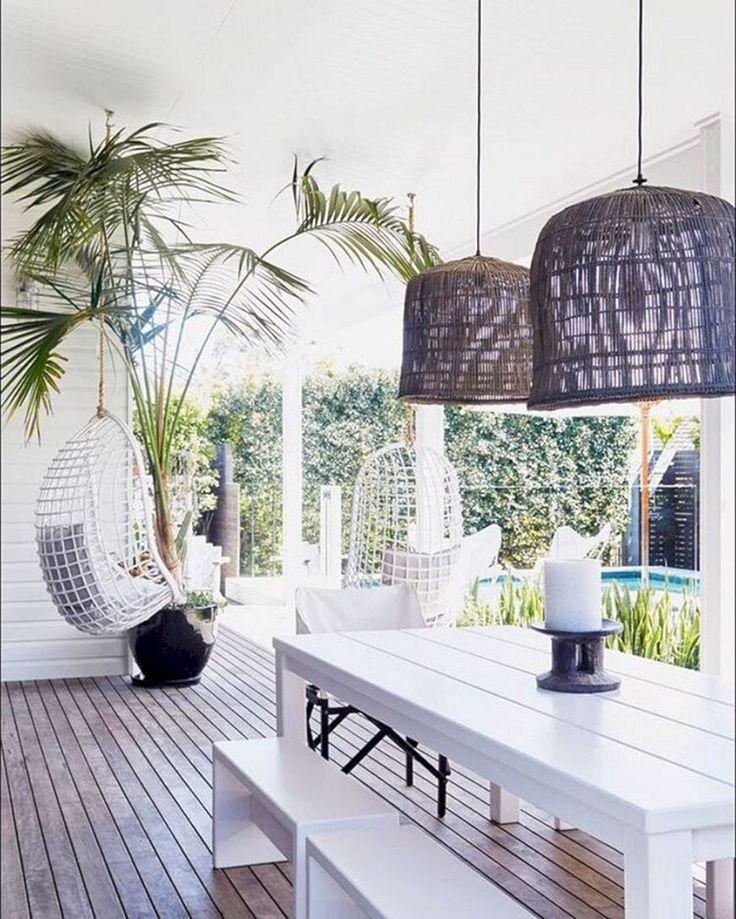 Elegant White Beach House Ideas 038